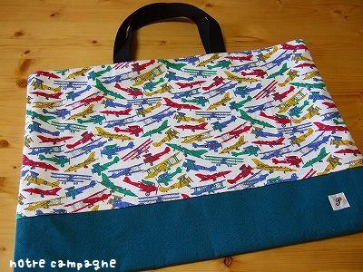 リバティの布バッグ